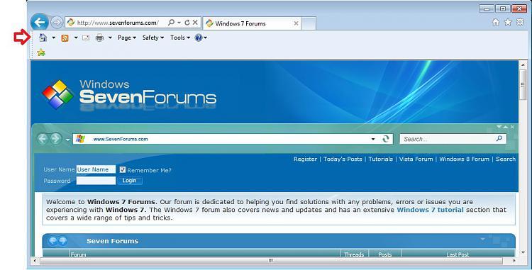 Internet Explorer Command Bar - M