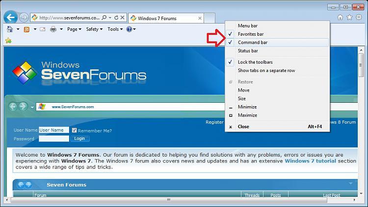 Internet Explorer Command Bar - Move to Left or Right-left.jpg