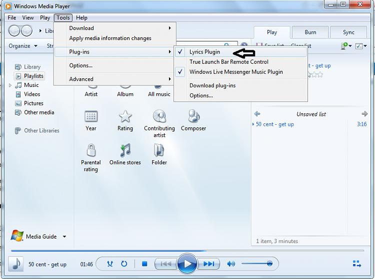 Windows Media Player - Enable Song Lyrics-wmp2.png