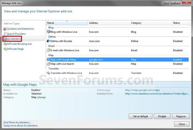 Internet Explorer - Add or Remove Accelerator Add-ons-added.jpg