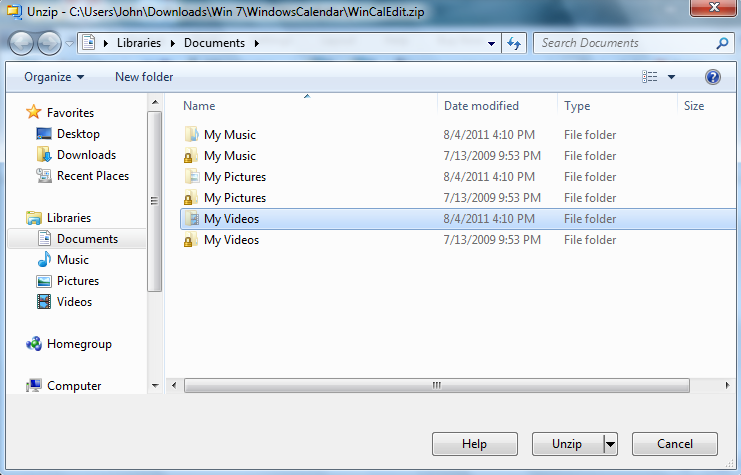 Windows Calendar - Import into Windows 7-wincalzipcapture.png