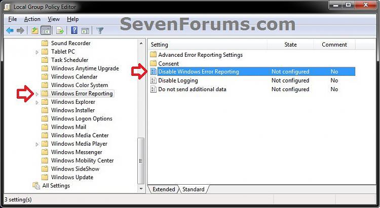 Windows Error Reporting - Disable in Windows-gpedit-1.jpg