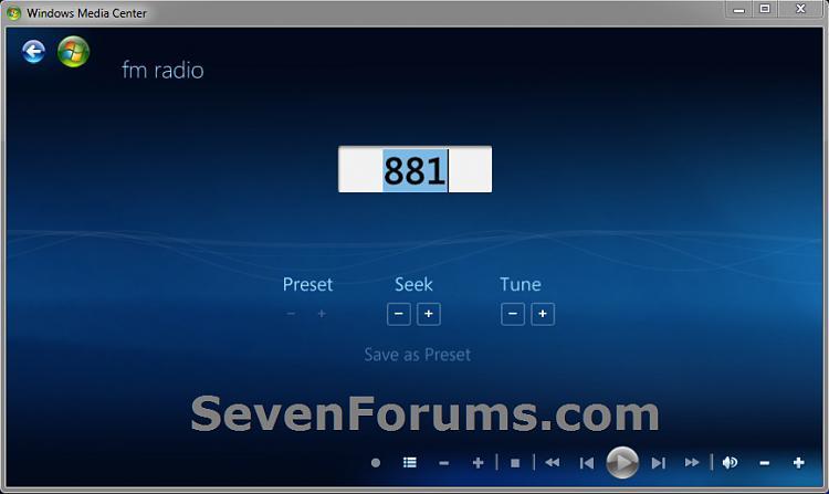 Windows Media Center - FM Radio - Create Shortcut-fm-radio.jpg