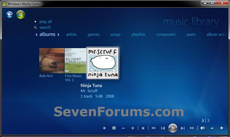 Windows Media Center - Music Library - Create Shortcut-music-library.jpg