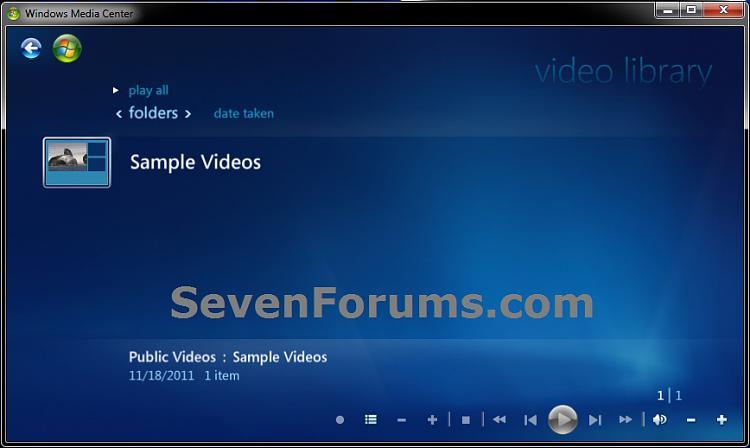 Windows Media Center - Video Library - Create Shortcut-video-library.jpg