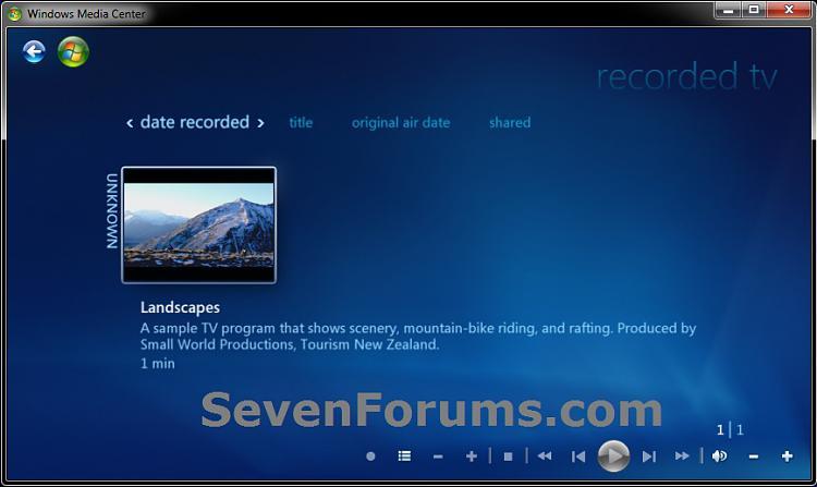 Windows Media Center - Recorded TV - Create Shortcut-recorded-tv.jpg