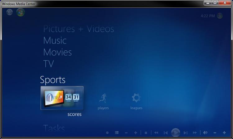 Windows Media Center - Recorded TV - Create Shortcut-sports.jpg