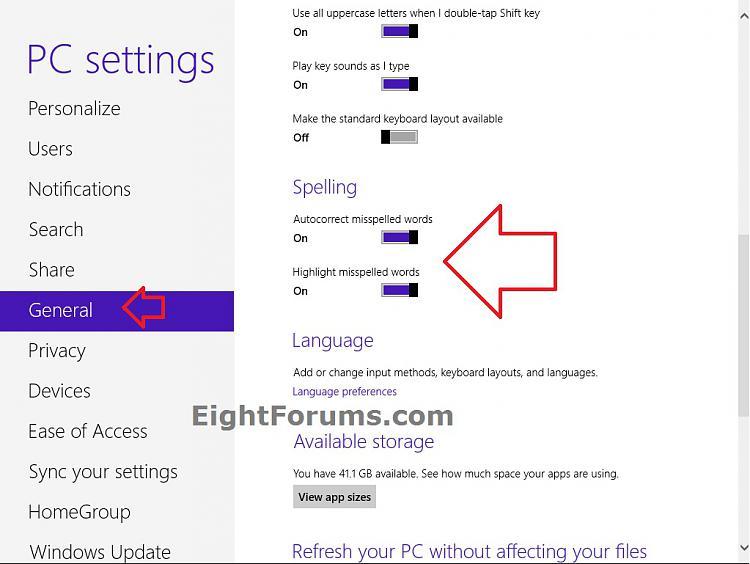 Internet Explorer 10 (IE10) Spelling Correction - Enable or Disable-pc_settings.jpg