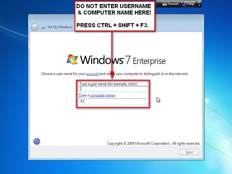User Profile - Customize During Installation-enterauditmode.png