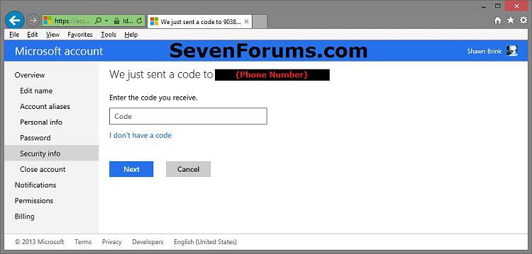 "Microsoft Account ""Two-step Verification"" - Turn On or Off-phone-code-1.jpg"