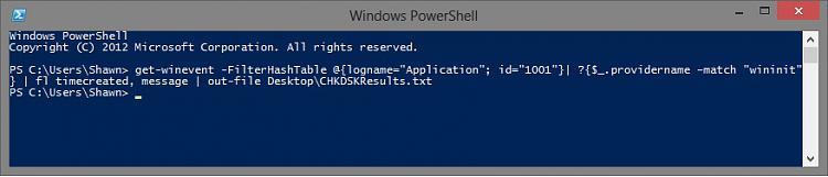 Check Disk (chkdsk) - Read Event Viewer Log-powershell.jpg