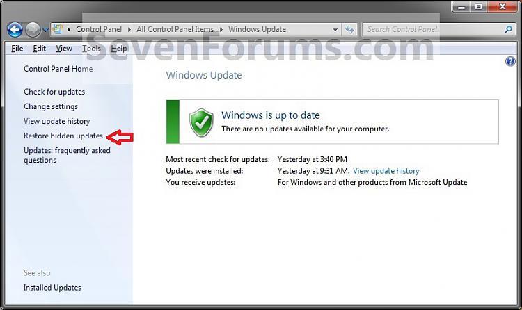 Windows Update - Hide or Restore Hidden Updates-restore.jpg