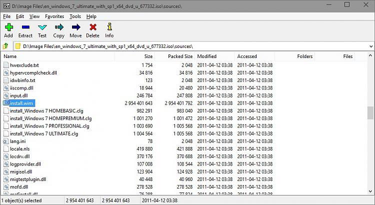 Extract Files from Windows 7 Installation DVD-installwim.jpg