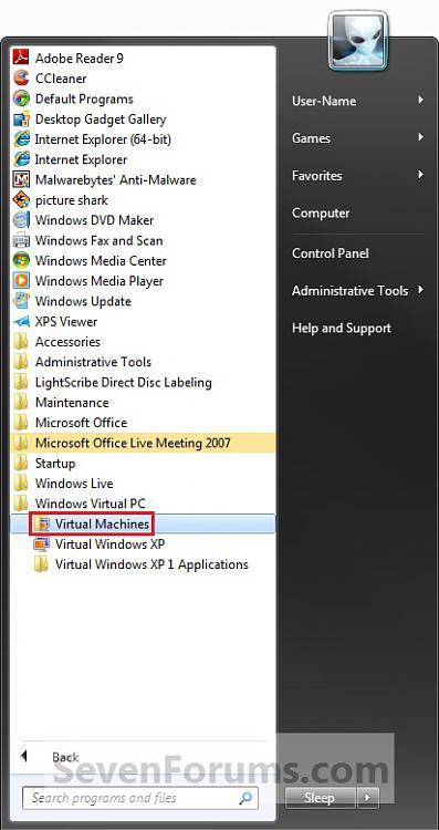 Windows Virtual PC - Boot from a CD in Virtual Machine-step1.jpg