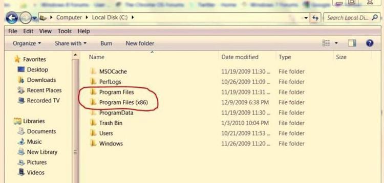 Windows Mail-location-x86-program-files.jpg