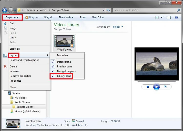 Library Pane - Turn On or Off-lp_on.jpg