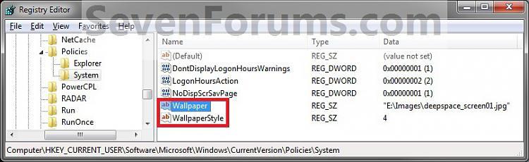 how to change desktop background windows 7 registry