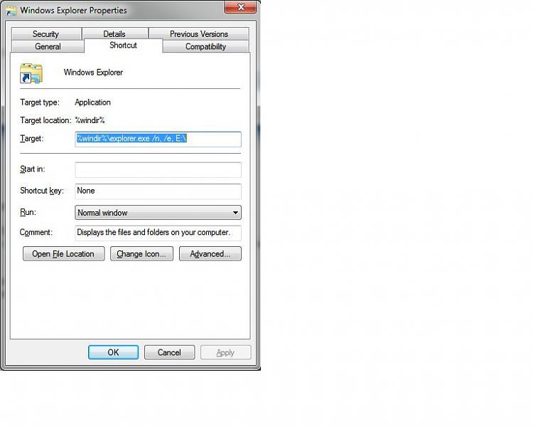 Windows Explorer Taskbar Icon - Change Open To Target-windows-7-explorer-properties.jpg
