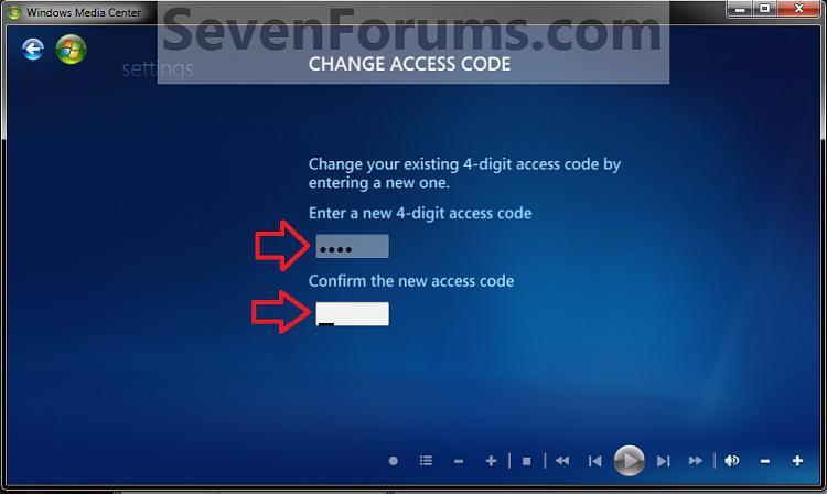 Media Center Parental Controls - Change Access Code-change2.jpg