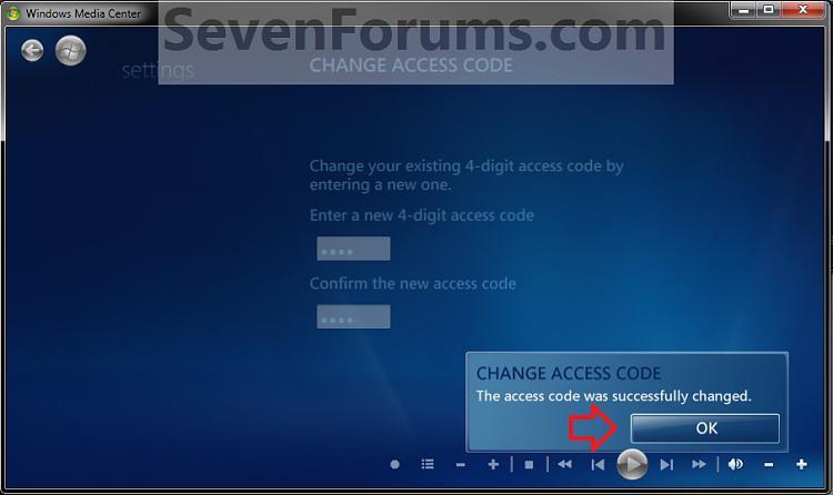 Media Center Parental Controls - Change Access Code-change3.jpg