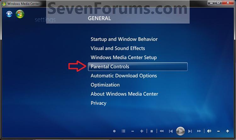 Windows Media Center Parental Controls - Reset-step3.jpg