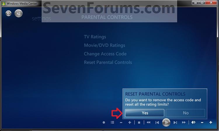 Windows Media Center Parental Controls - Reset-reset2.jpg