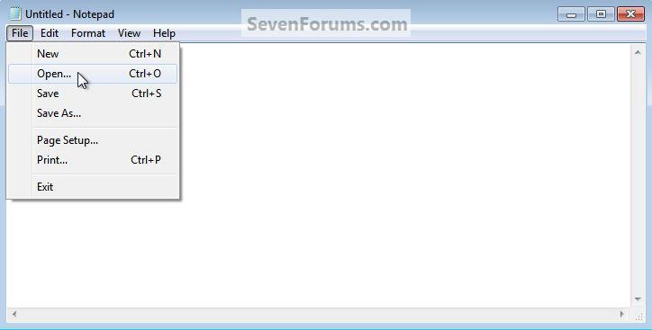 Hosts File : Use in Windows 7 / Vista-notepad_open.jpg