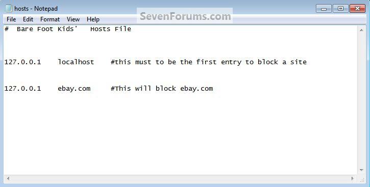 Hosts File : Use in Windows 7 / Vista-hosts_block.jpg