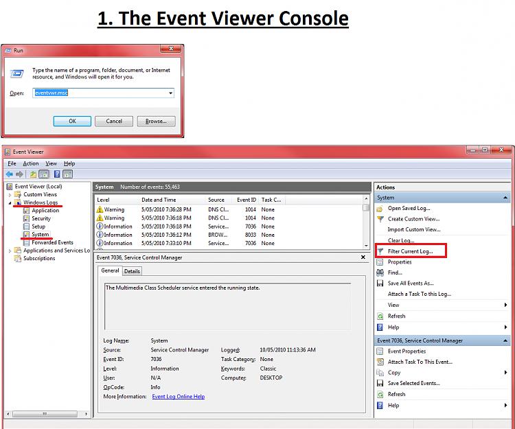 View Error Log Windows 7: Create A Custom System Monitoring