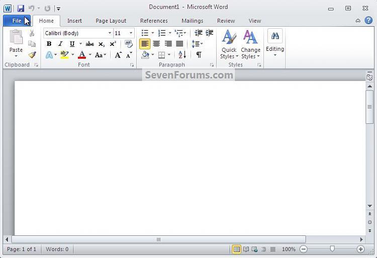 MS Office Word : Set Document Color-file.jpg