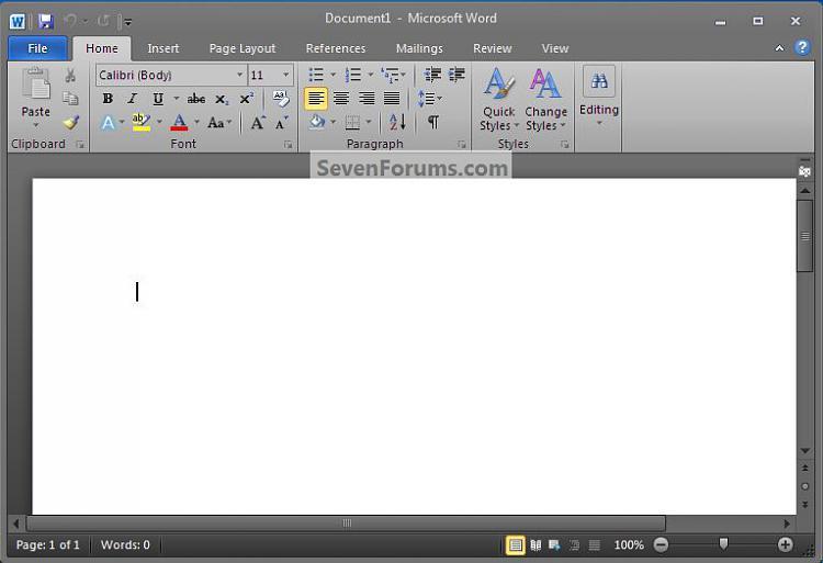 MS Office Word : Set Document Color-black.jpg