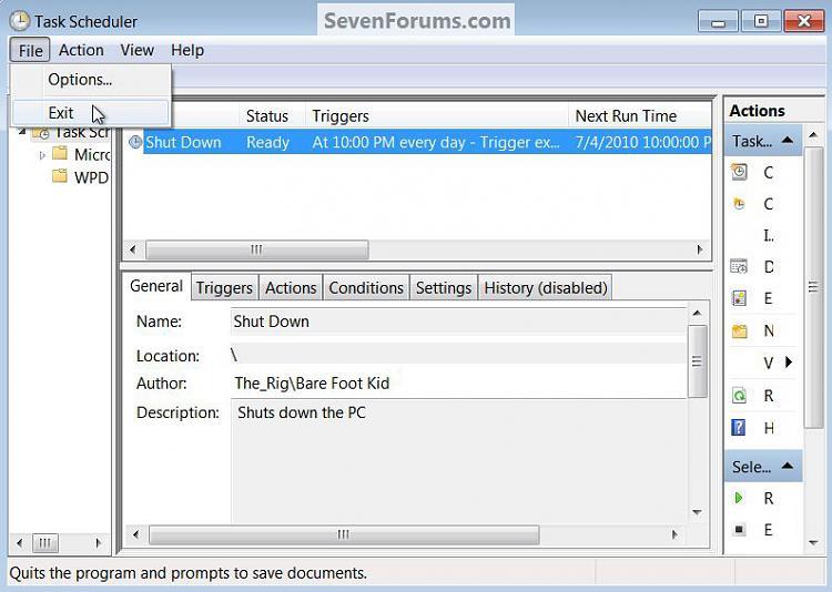 Task Scheduler : Create Shut Down PC Automatically Task-exit.jpg