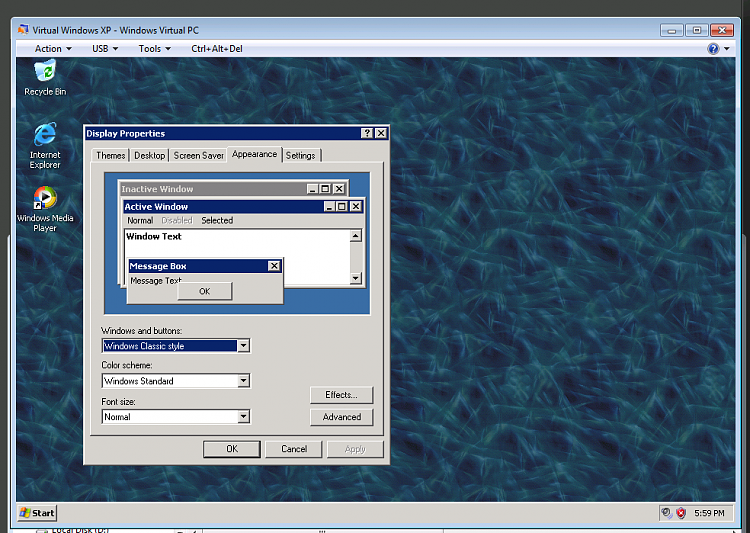 Download Windows Virtual PC Beta and XP Mode Beta-xpm-classic-mode.png