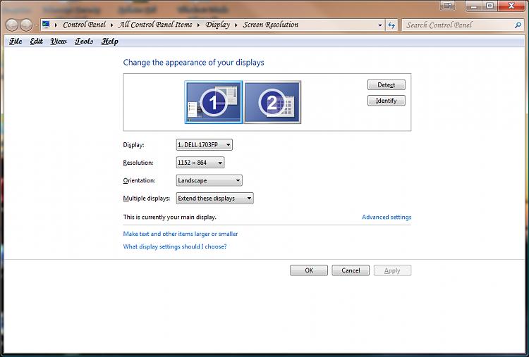 Dual screen not working - Windows 7 Help Forums