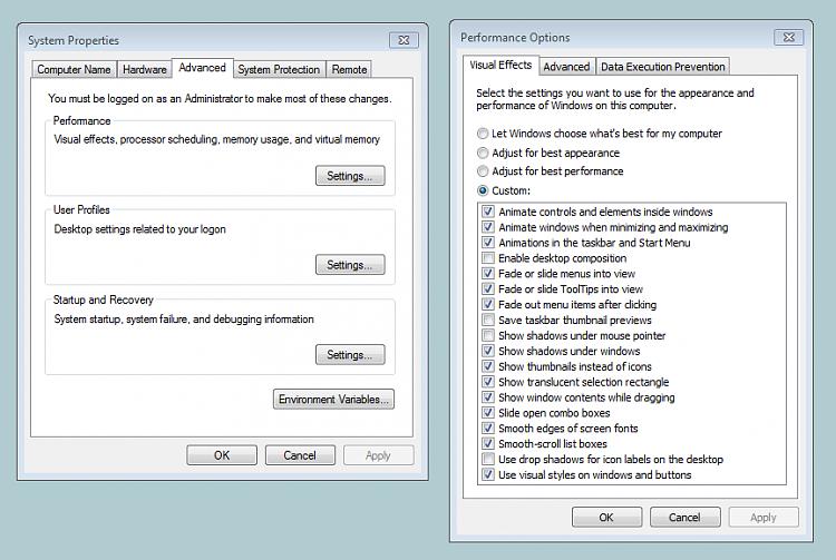"""XP mode"" changes desktop graphics-desktop-shadows-removal.png"