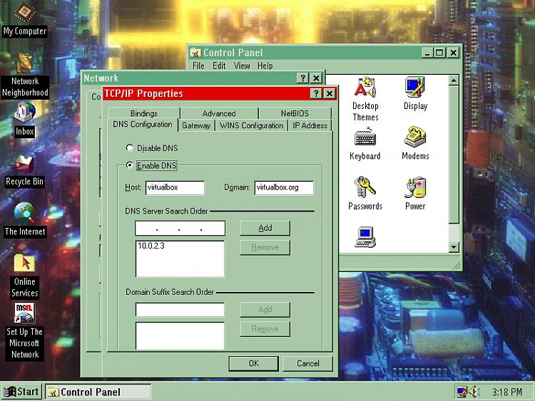 VirtualBox Windows 95 guest doesn't connect to Net-tcpip-dns.jpg