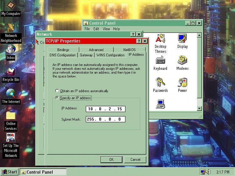 VirtualBox Windows 95 guest doesn't connect to Net-tcpip-ip-address.jpg