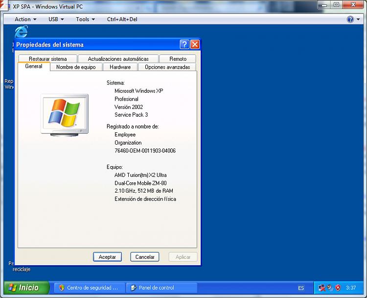 xp virtual machine (x86 Spanish) error-spa3.png