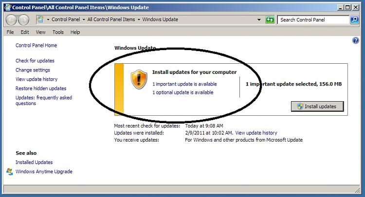 Delete an update-update1.png