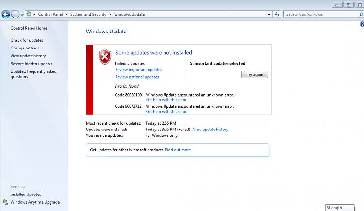 How do I correct the Windows update error 800B0100 & 80073712?-win7-update-1a.png
