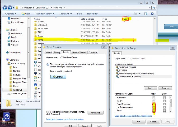 How do I correct the Windows update error 800B0100 & 80073712?-win-temp-file-empty-inaccessable.png