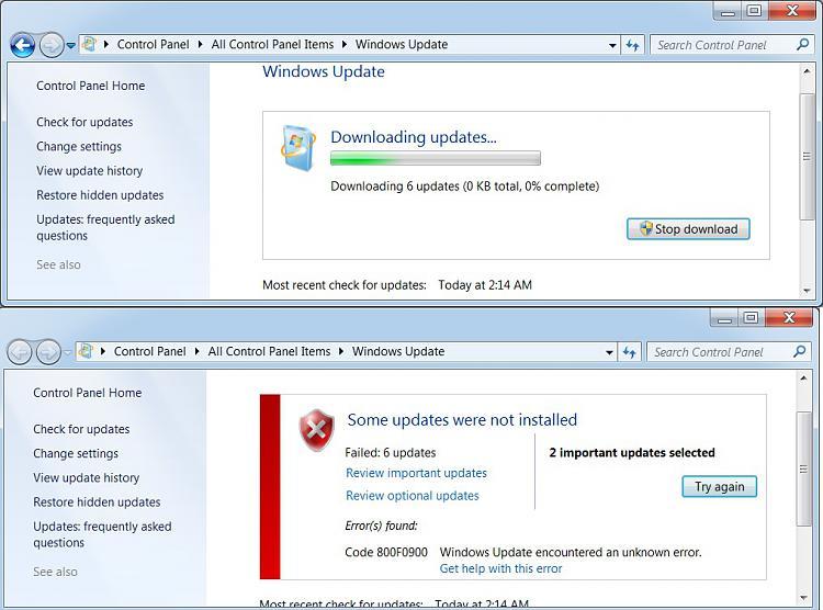 Code error 800f0900 appears when installing windows update-failed-updates.jpg