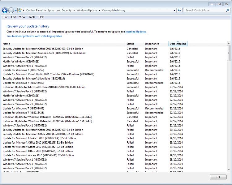 windows 7 service pack 1 latest update