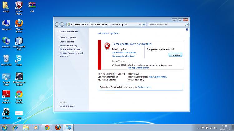 update windows 7 x64