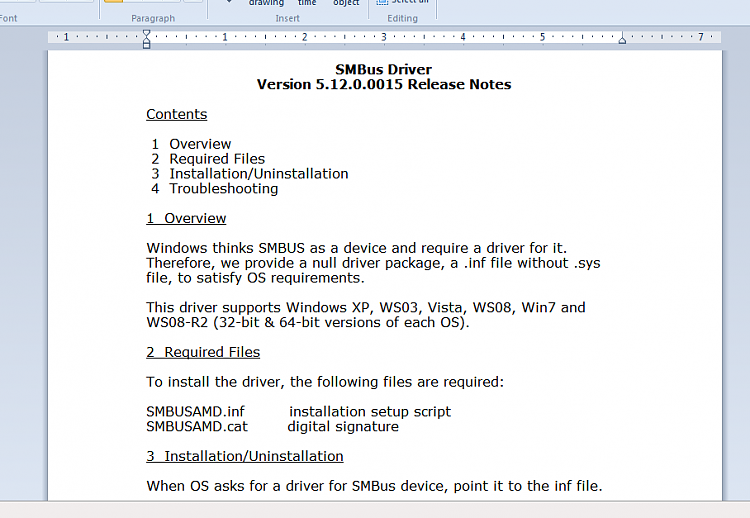 AMD SMBUS2 INF Driver Windows 7