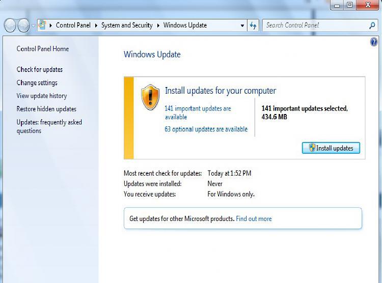 Clean Install Win7 x86. Windows Updates not working :-(-updates.jpg