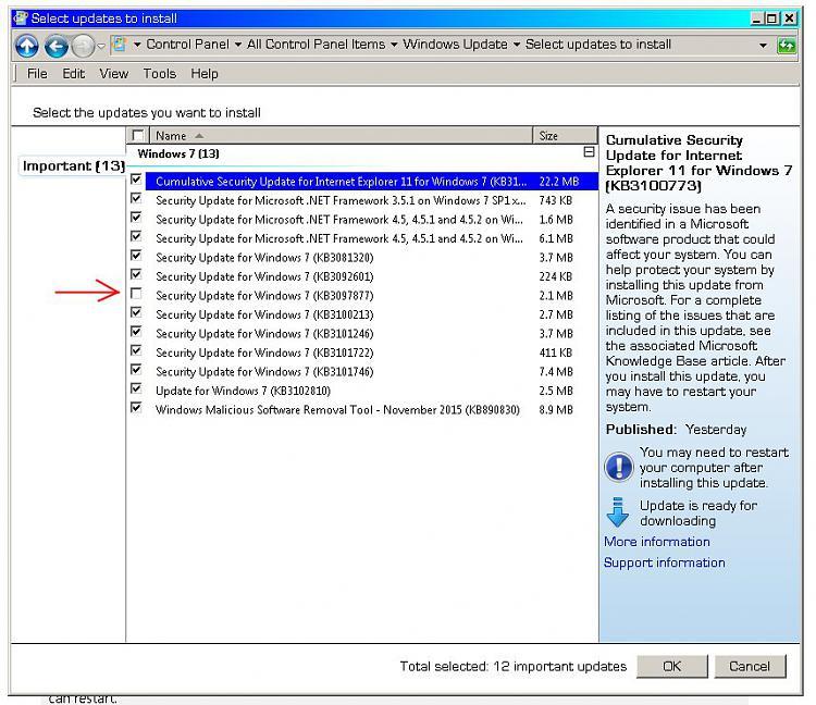 11 Nov 2015 Windows Critical Update KB3097877 Crashes Windows Sidebar-3097877.jpg