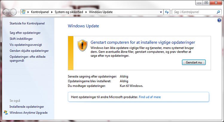 Windows won't update. Always asking for a restart. Noerror code-update.png