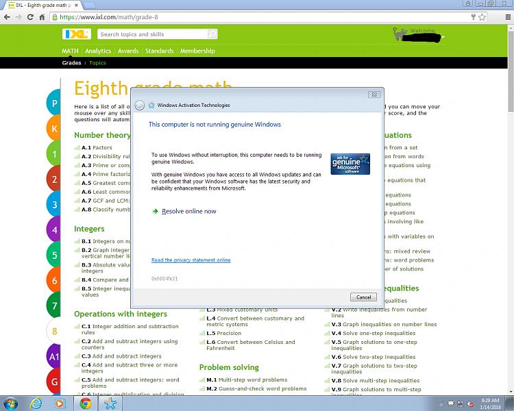 windows 7 sp1  pirated