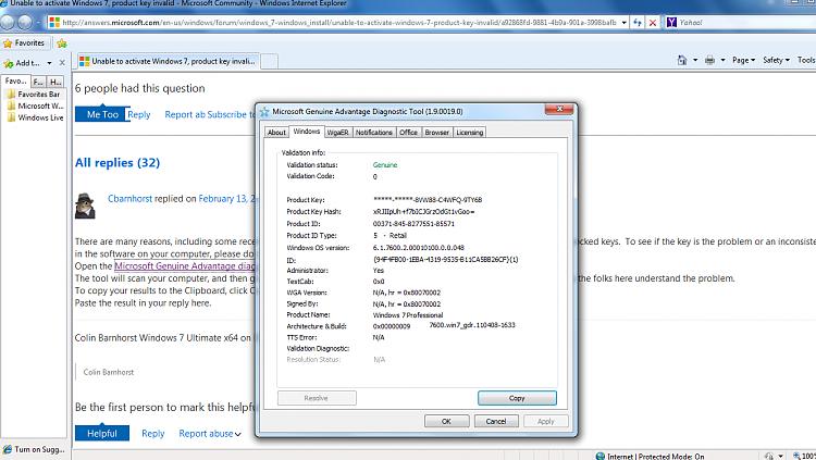 Not Genuine error message Win7 Pro Retail-microsoft-advantage-program-diagnostic-report.png